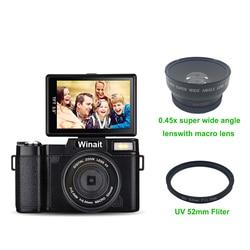 Winait Full hd 1080p SLR similar Digital Video Camera with 3.0 TFT display,  24 Mega pixels digital camera mini DV