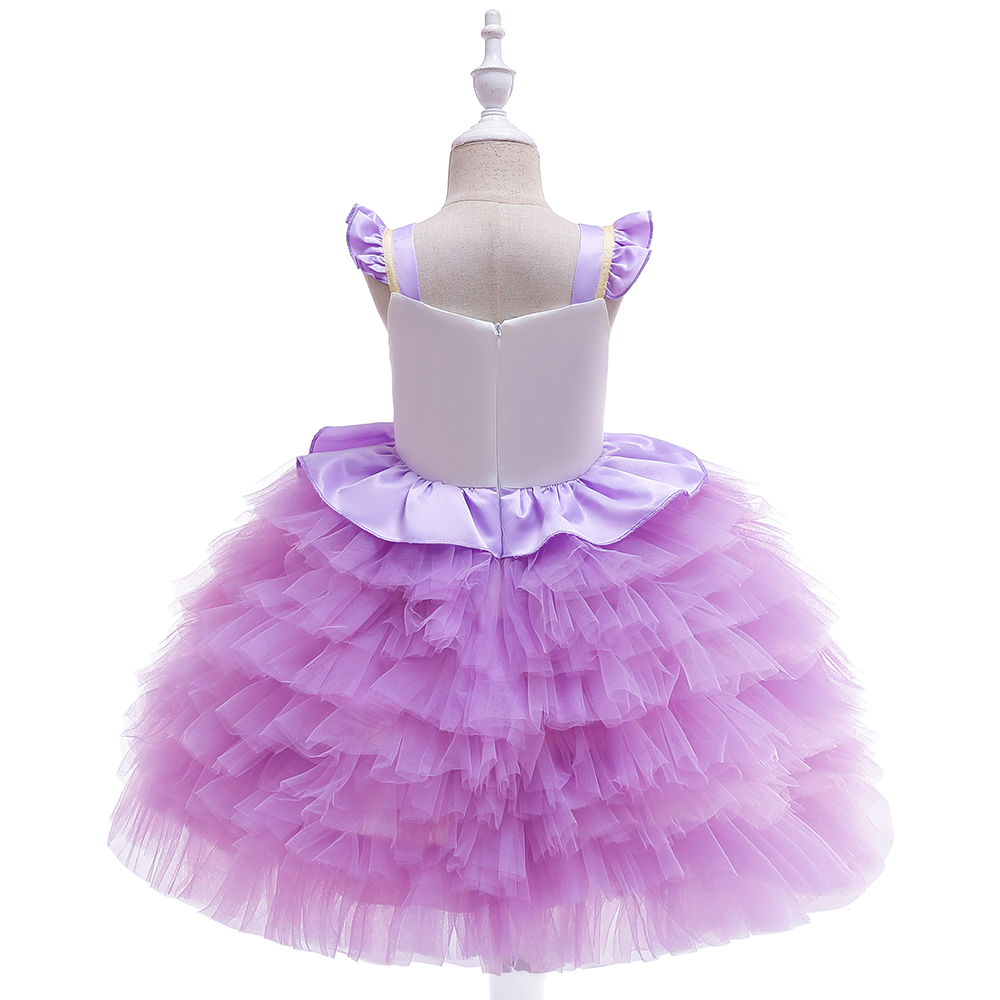 4 6 8 10 12 Years Girls Ball Gown Unicorn Dress Children Fashion Dress Girls Cute Cake Layers Birthday Dresses Hot Sales in Dresses from Mother Kids