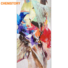 CHENISTORY Frame Abstract Picture DIY Painting By Numbers Acrylic Paint On Canvas Wall Art Picture For Living Room 60x120cm Arts(China)