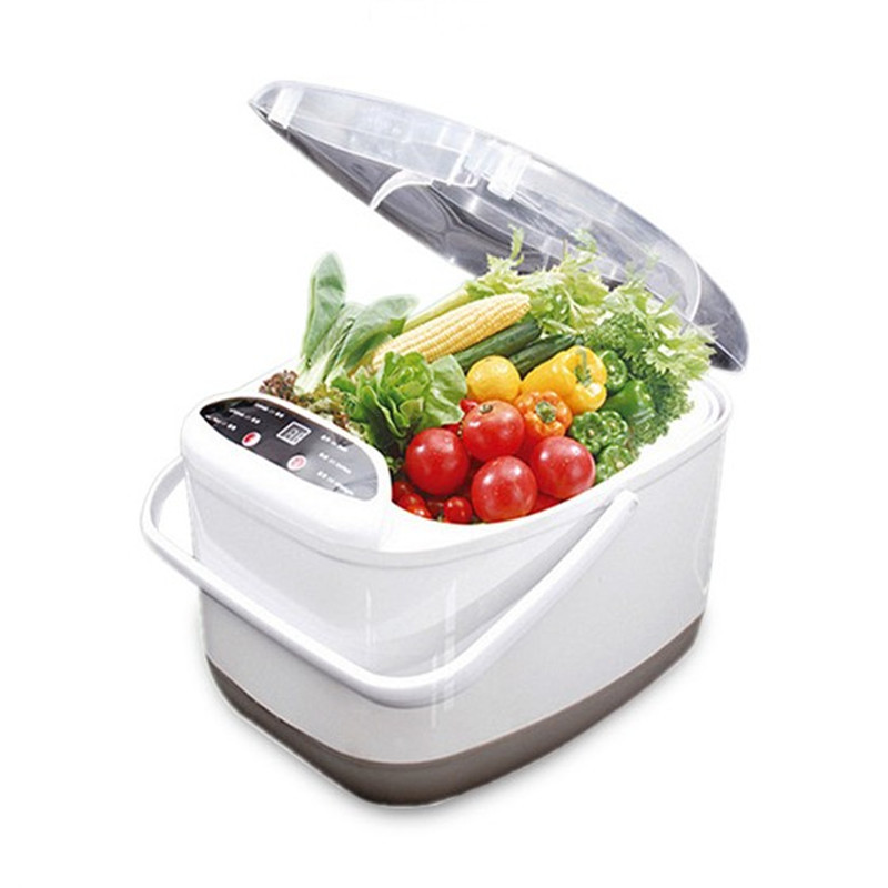 Mini household Vegetable washing machine Vegetable Fruit Washers 4L 60W Easy to operate Mechanical Timer Control vegetable washers ultrasonic cleaning machine household washing glasses fruit and vegetable watch jewelry dental cleanin