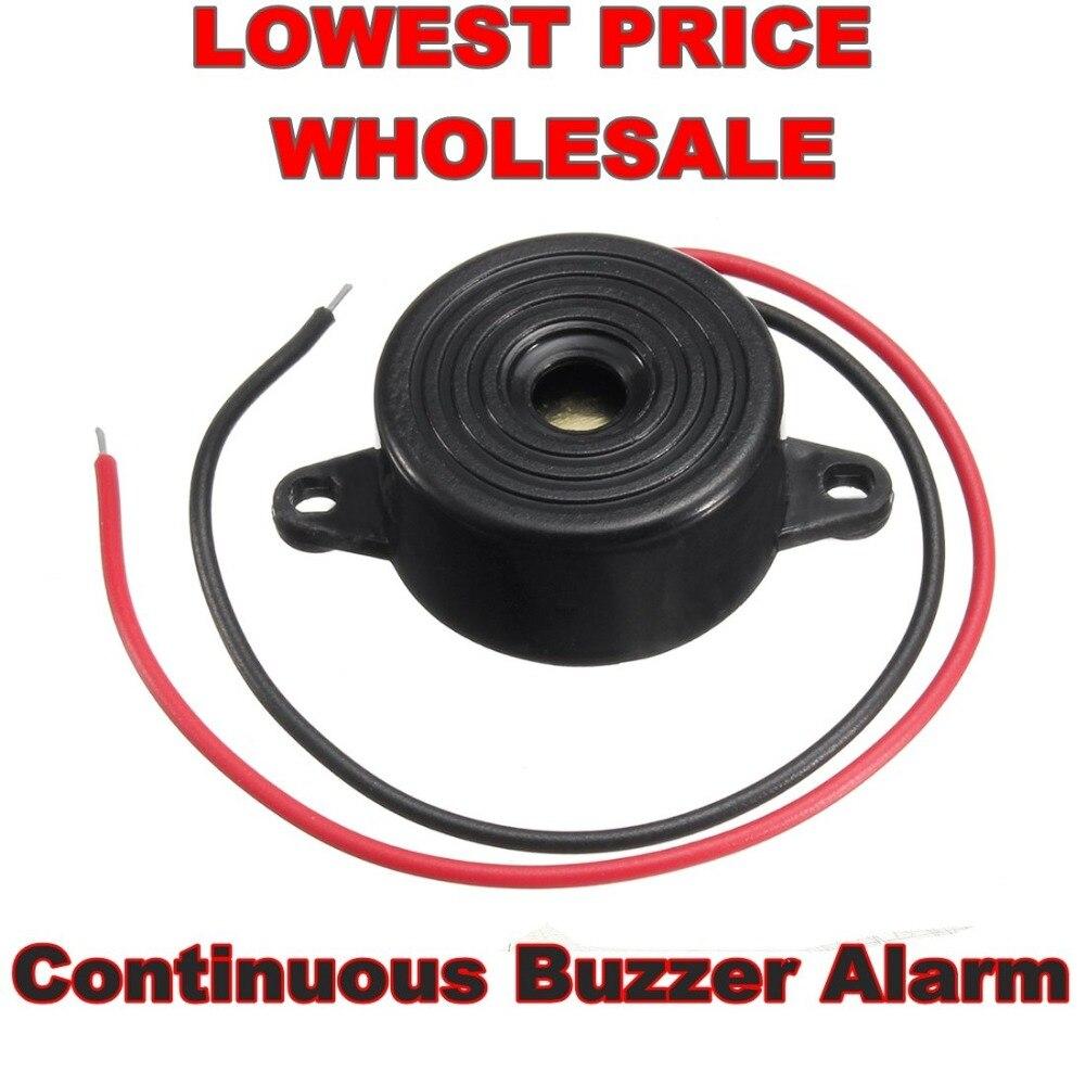 Durável 3-24 v piezo campainha eletrônica alarme 95db som contínuo beeper para van de carro arduino