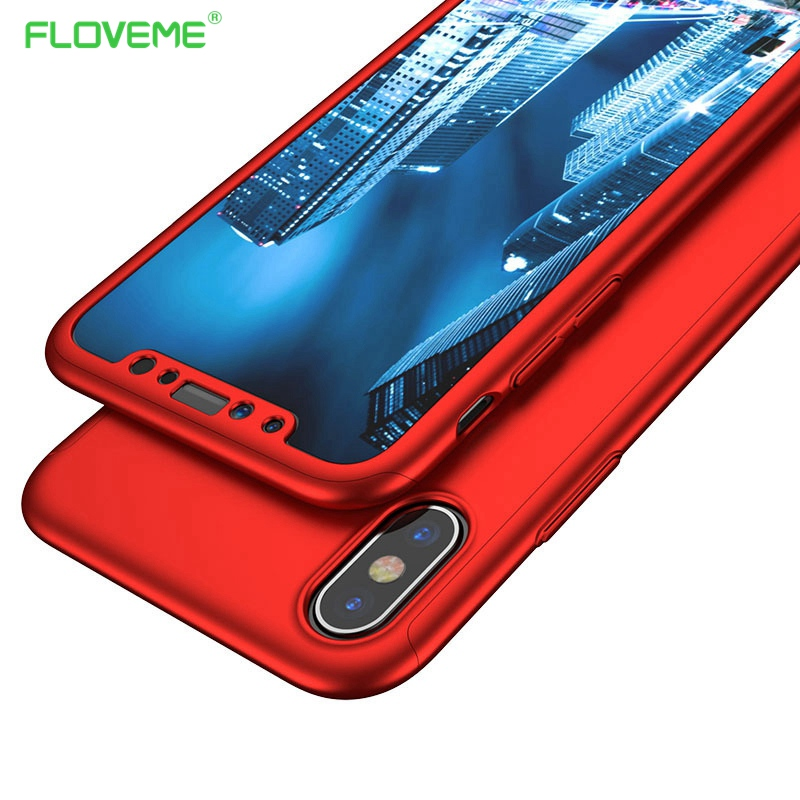 FLOVEME 360 Protective Case For iPhone X ten 10 Cases For