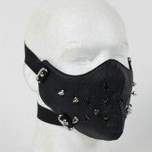 Модная мотоциклетная панк-рок маска для лица Хип-Хоп Хэллоуин Вечерние кожаные маски