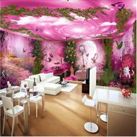 3d wallpaper stereoscopic perspective custom wallpaper 3d background wallpaper Forest mystery afternoon tea house wall paper