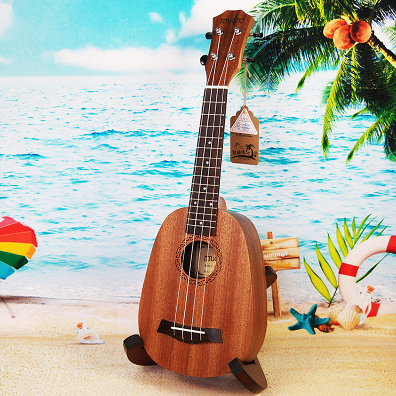 High Quality 21 Ukulele Pineapple-shaped Soprano Ukulele Mahogany Ukelele 4 Nylon Strings Rosewood Fingerboard rotosound cl2 strings regular end nylon