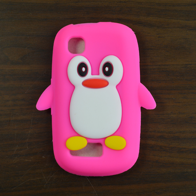 the best attitude 968ea e0fd4 US $3.99 |Cartoon Cute 3D Penguin Silicon Soft Back Case Cover For Nokia  Asha 200 201 Phone Bag Accessories-in Half-wrapped Case from Cellphones &  ...