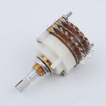 Darmowa wysyłkanowy 2 sztuk 2 polak 23 krok obrotowy przełącznik tłumik regulacja głośności potencjometr DIY