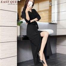 Vestido de negócios roupas mulheres negras vestidos de escritório para as mulheres 2017 KK357