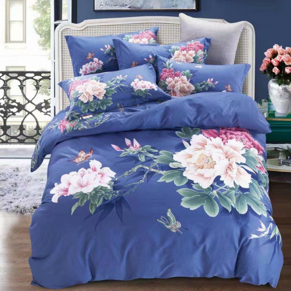 Classical Oriental Bedding Set Cotton Printed Home Textiles for Queen King Size BedsClassical Oriental Bedding Set Cotton Printed Home Textiles for Queen King Size Beds
