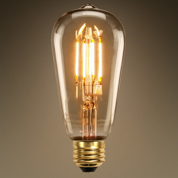 dimmable vintage led filament light bulb st58 edsion style 6w 2200k