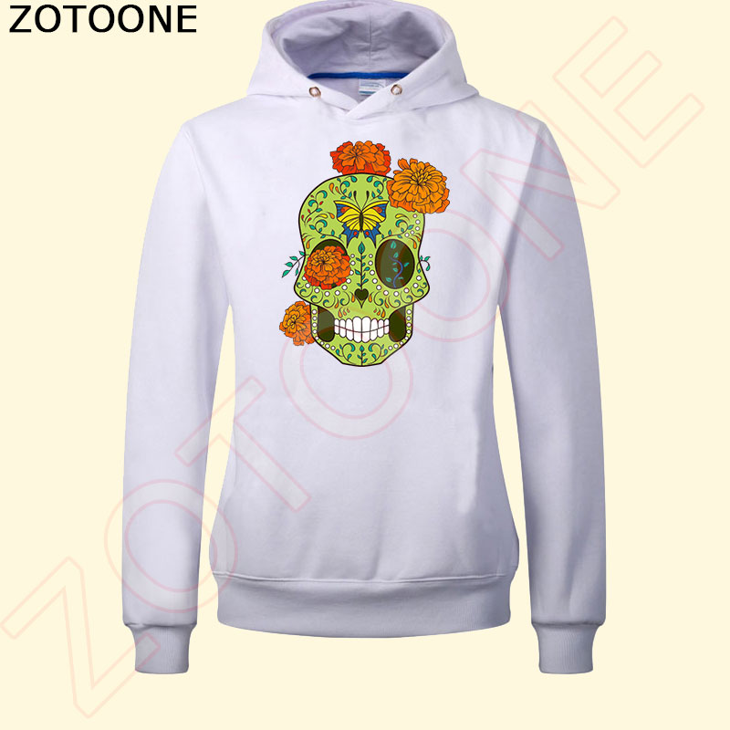 ZOTOONE West Coast Style Skull Iron on Patches for Clothes Pyrography Heat Transfer DIY T Shirt Clothing Decoration Printing C in Patches from Home Garden