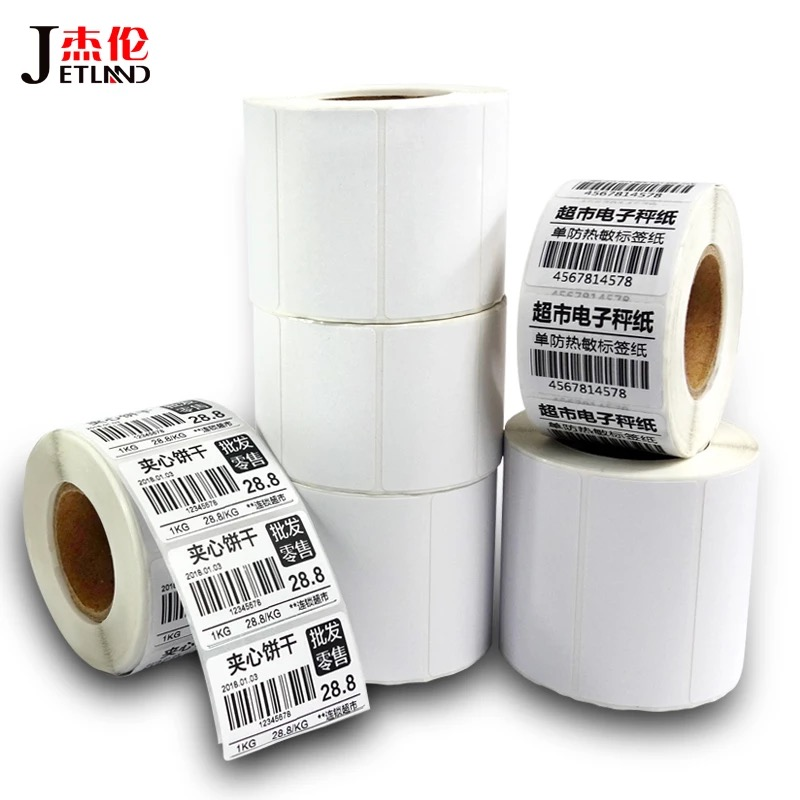 Direct Thermal Label, 40mm Core, 1 Packs(1~4R) , Width 20mm ~100mm, Top Coated Thermal Stickers Rolls For Zebra Thermal Printer