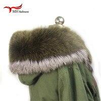Women Scarves for Winter Natural Green Fox Fur Scarf Warm Fur Collar Brand nNew Fashion Fur Shawl Female L#95