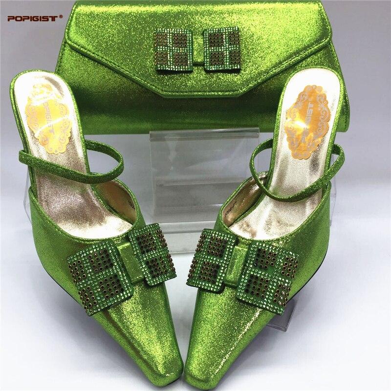 gold Les Set Mariage Sacs Vert Sac Chaussures green Blue Et Couleur Avec Black Italiennes Nigérian De fuchsia Femmes Ensembles sky red Assortis Africaines w6gqgHSxP