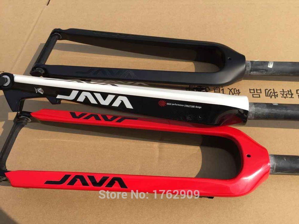 """Новый Java 26/29 """"дюймов горный велосипед полный углеродного волокна велосипед передней вилки Дисковый Тормоз MTB 26er 29er 28.6 мм 1 -1/8 """"трубки Бесплатн…"""
