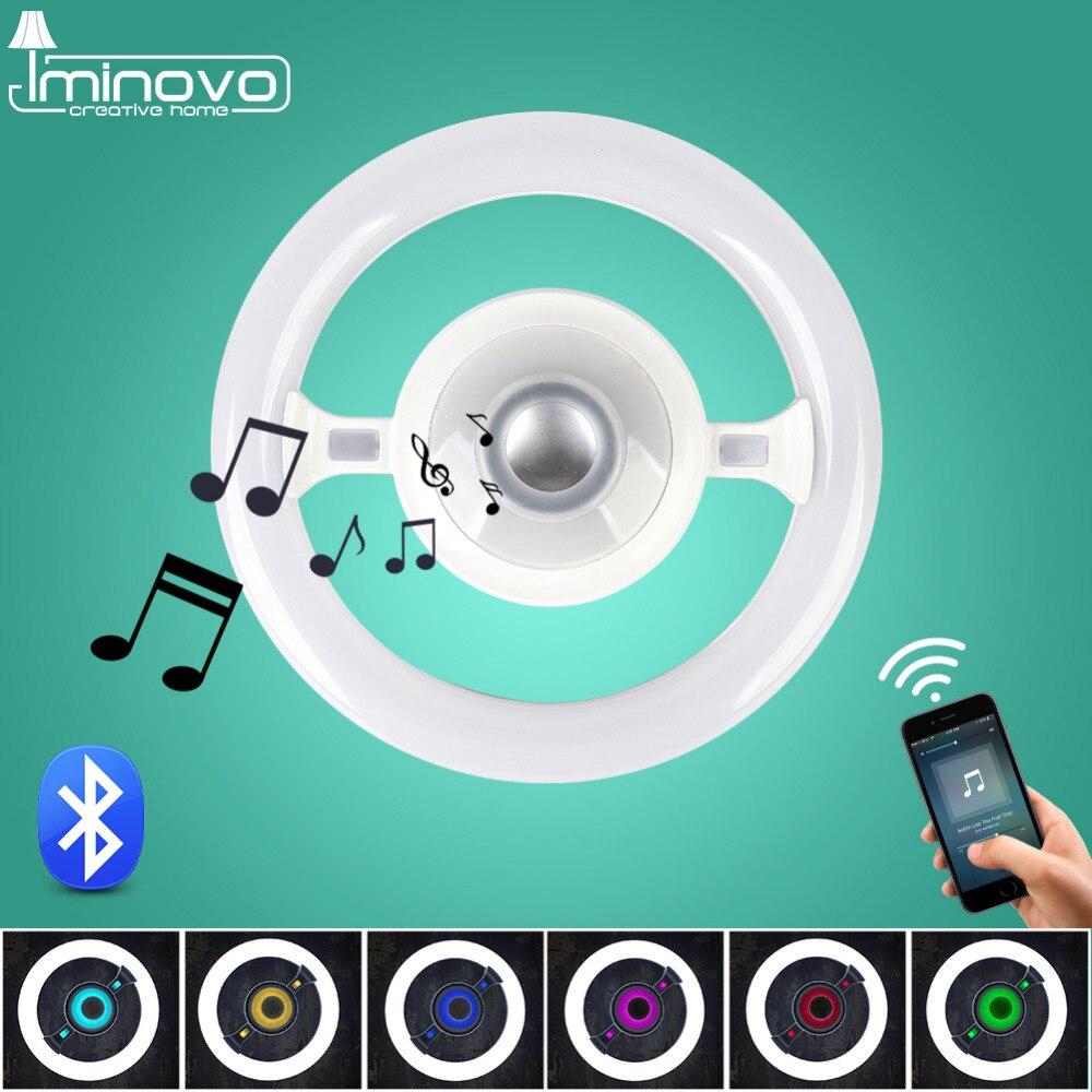 Здесь продается  IMINOVO bluetooth music Ceiling Lamp Multifunction Steering Wheel Round shape Lights 220V 22W 40W Can Add A E27 Socket As A Bulb  Свет и освещение