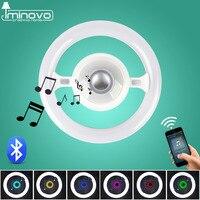IMINOVO bluetooth muziek Plafondlamp Multifunctionele Stuurwiel Ronde vorm Lichten 220 V 22 W 40 W Kunt Een E27 Socket Als Een Lamp
