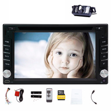 "Free Back Camera Touch Screen Car DVD Player GPS Navigation 6.2"" 2 Din Car Stereo Bluetooth Car Radio Audio Video Player"