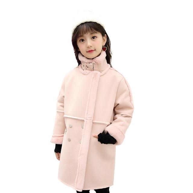 3ca154eeff72 Baby Plus Velvet Jackets For Girls Warm Motorcycle Coats Autumn ...