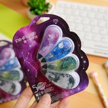 4pcs/pack 5mmx1.8m Fantastic starry sky correction tape students lovely creative stationery office supplies