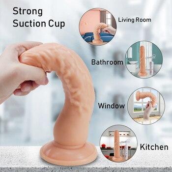 FLXUR 10 Modes Dildo Vibrator Adult Toy Suction Cup Clitoris Stimulator Penis G Spot Vagina Female Masturbator Sex Toy For Women 3