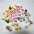 Free shipping 10 mm resin flower cabochons --diy  make beautiful earrings, rings and pendants, nail art decorations