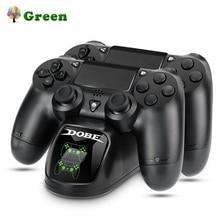 Быстрая зарядка PS4 док двумя контроллерами Зарядное устройство зарядная станция геймпад подставка держатель базы для SONY Игровые приставки 4 PS4/Pro/Slim