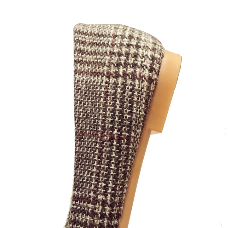 Confortable Femmes Nouvelle De Noir Appartements Plaid Marque Mode marron Taille Élégant Zh2825 Plus 41 Dames La Chaussures Doux IxfAw0fRq