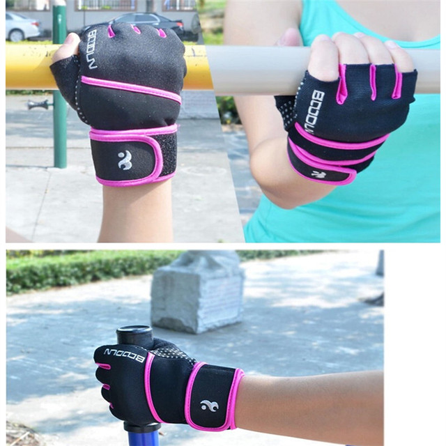 Fitness Gloves Women Gym Crossfit Bodybuilding Workout  Wrist Wrap Sports Gloves for horizontal bar Training Dumbbell Barbell