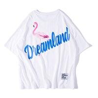 Couple Flamingo T Shirt Men Cotton Summer Tshirt Men Streetwear Hip Hop Short Sleeve T Shirt Homme Mens Clothing Boyfriend Gift