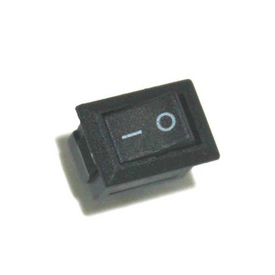 10 шт./лот Мини перекидной клавишный выключатель ВКЛ. Выкл. кнопочные переключатели AC 250 В 3A 2 Pin электрическая сенсорная кнопка питания