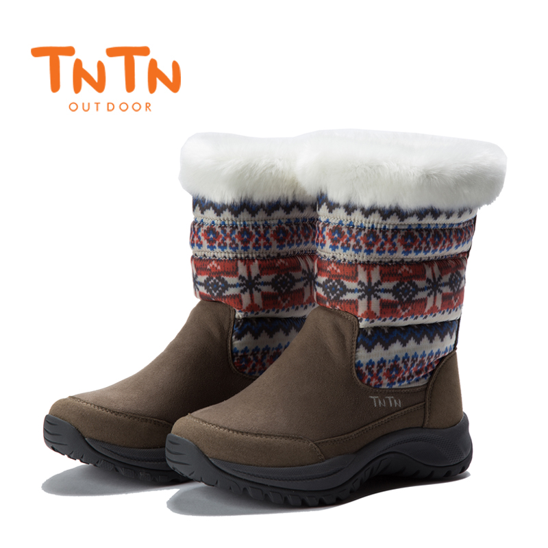 TNTN Waterproof Hiking Boots Women Thermal Winter Walking Shoes Women Boots Outdoor Warm Waterproof Sneaker Leather Snow Boots