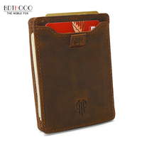 2018 New Slim Leather Clutch Wallet Men RFID ID Credit Card Holders Pulled Fame Compact Mini