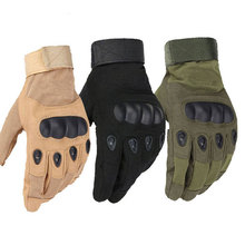 1 Pair Military Breathable Knuckle Tactical Gloves Full Finger for Army Gear Sport Driving Shooting Paintball Riding Motorcycle