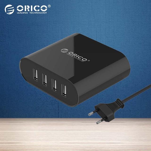 ORICO 4 Portas Mini Smart Carregador 5V2. 4A * 4 6A 30 W Máxima de Saída para Telefones celulares e Tablets-Preto (DCH-4U)