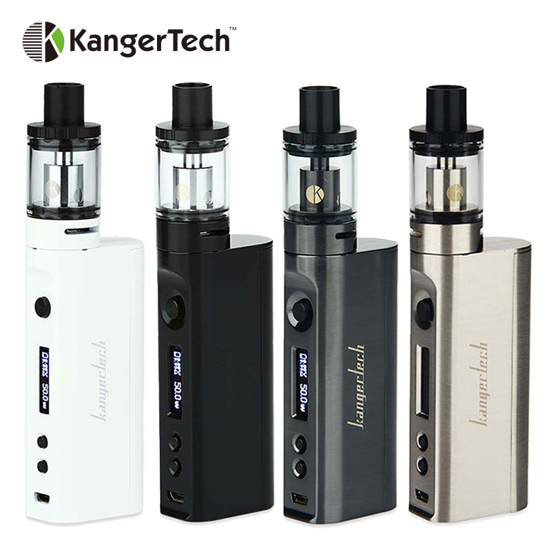Original 50W Kanger Subox Mini-C Starter Kit Electronic Cig Kit with 0.5ohm SSOCC coil Kangertech Atomizer Bottom Airflow электронная сигарета kangertech subox mini c стальная