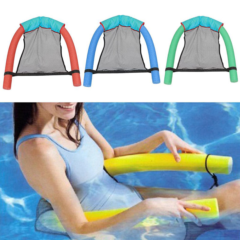 Swimming Floating Chair Pool Party Kids Bed Seat Water Relaxation Flodable Ring Toys Lightweight Beach Entertainment Accessories