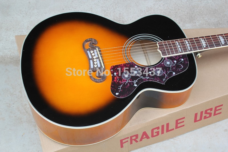 hard case wholesale guitar factory high quality acoustic guitar vintage sunburst acoustic guitar. Black Bedroom Furniture Sets. Home Design Ideas