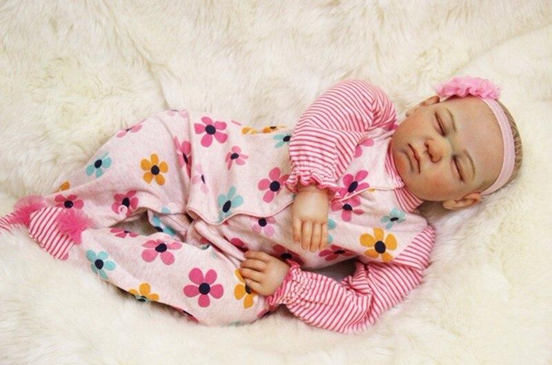 20 pouces Nouveau-Né reborn bébé Poupée Souple En Silicone lol d'origine menina princesse enfant en vie enfants présente jouer maison poupée pour vente