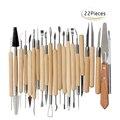 Arts Crafts 22pcs Clay Sculpting Tools Pottery Carving Tool Set Pottery & Ceramics Wooden Handle Modeling Clay Tools