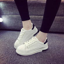 2018 New Fashion Shoes Lace-up Casual Women Comfortable Flat Loafers Zapatos Mujer