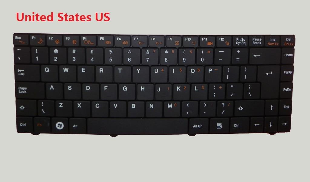 Laptop Keyboard For Gigabyte E1425 E1425A E1425M United Kingdom UK United States US laptop keyboard for sony svd13 svd13228scw series us sliver without frame 149245411us