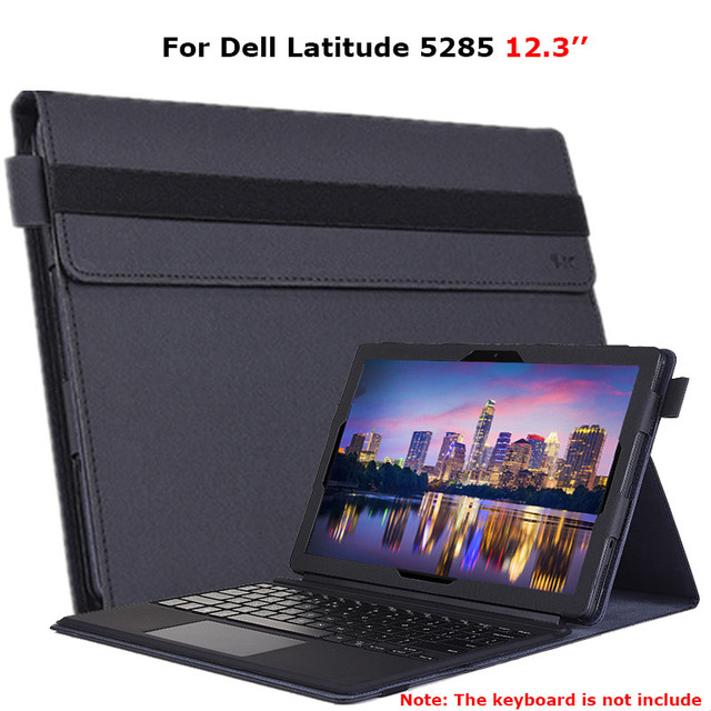 """For 12.3"""" Dell Latitude 5285 Case 2 in1 Tablet Keyboard Protector Luxury PU Leather Stand Cover Case For Dell Latitude 5285 12.3"""