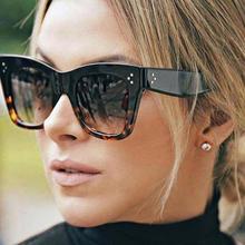 2019 Fashion Cat Eye Leopard Sunglasses Vintage Women Brand Designer Plastic Frame Lady Sun Glasses Oculos De Sol feminino