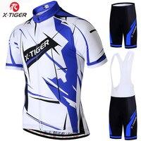 X tiger letni profesjonalny strój kolarski wyścigi rowerowe odzież człowiek Maillot Ropa Ciclismo MTB odzież rowerowa odzież sportowa zestaw rowerowy w Zestawy rowerowe od Sport i rozrywka na