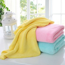 100*55cm Solid Child Blanket Shower Use Washing Face Body Microfiber Fabric Soft Warm Towel Blanket