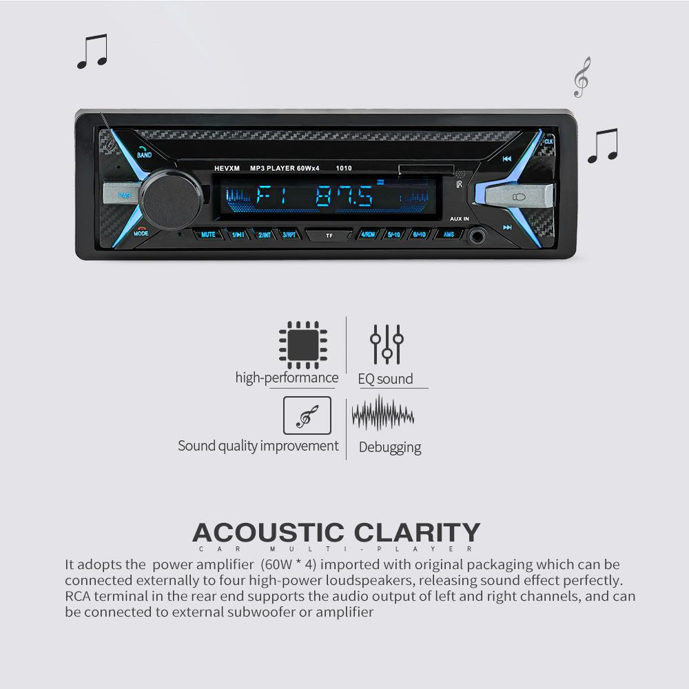 Image 3 - 12V Bluetooth MP3 Player Wireless Receiver Vehicle Mp3 Decoder Board Car FM Radio Module TF USB 3.5mm AUX Audio Adapter Car Kit-in Car MP3 Players from Automobiles & Motorcycles