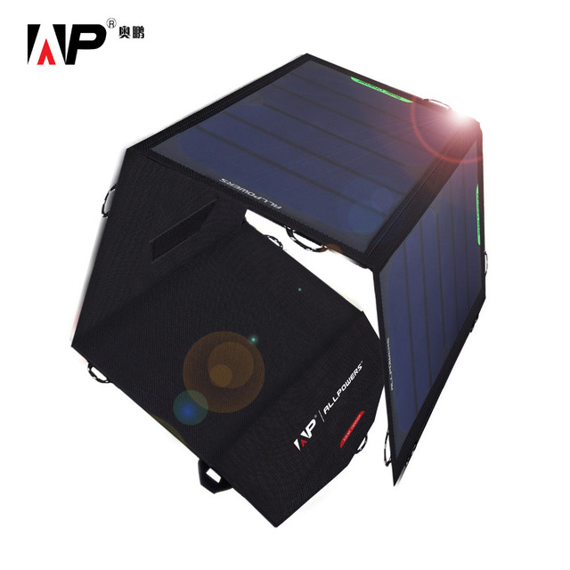 ALLPOWERS Portable Solar Charger 5V 4.5A Total Portable Solar Panel Charger Dual USB Outputs Solar Phone/Tablet/Battery Charger.