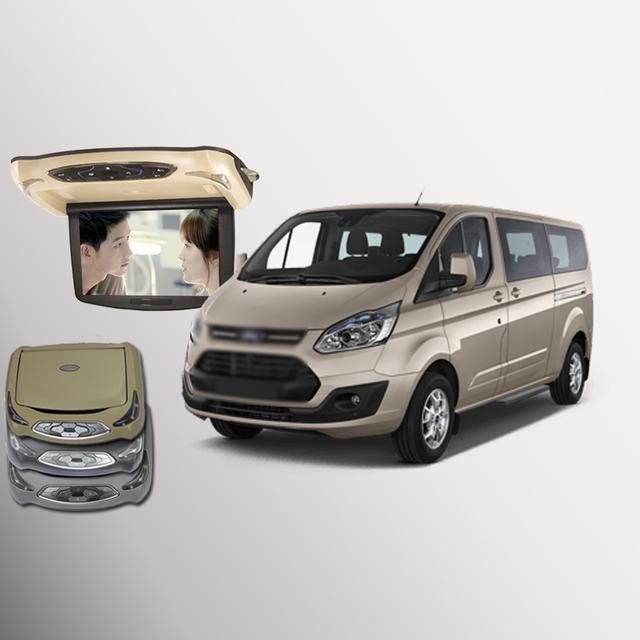 Para Ford Tourneo Personalizada Techo Del Coche Montado en el coche LLEVÓ la Pantalla Digital soporte HDMI USB FM Juego TV IR Remoto Flip Down Monitor de DVD