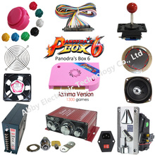 цены на Arcade parts Bundles kit With Joystick Pushbutton Micro switch button Pandora Box 6 Game PCB to Build Up 3 Side Arcade Machine в интернет-магазинах